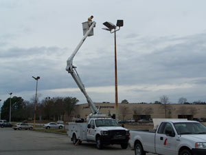 Parking Lot Light Maintenance