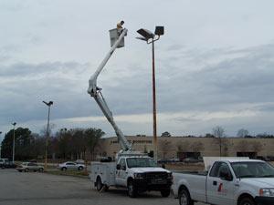 Commercial parking lot light design maintenance in south carolina parking lot lighting design parking lot light maintenance aloadofball Images